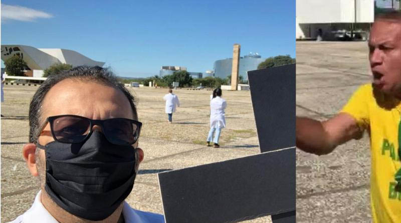 VÍDEO! Sousense foi um dos enfermeiros agredidos por Bolsonaristas em frente ao palácio do Planalto em Brasília