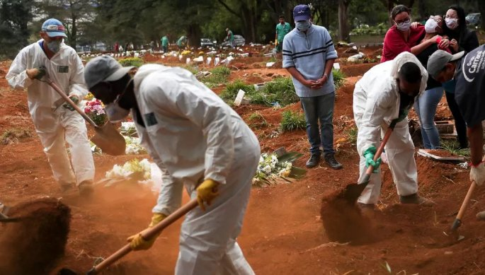 Brasil chega a 100 mil mortos por Covid-19