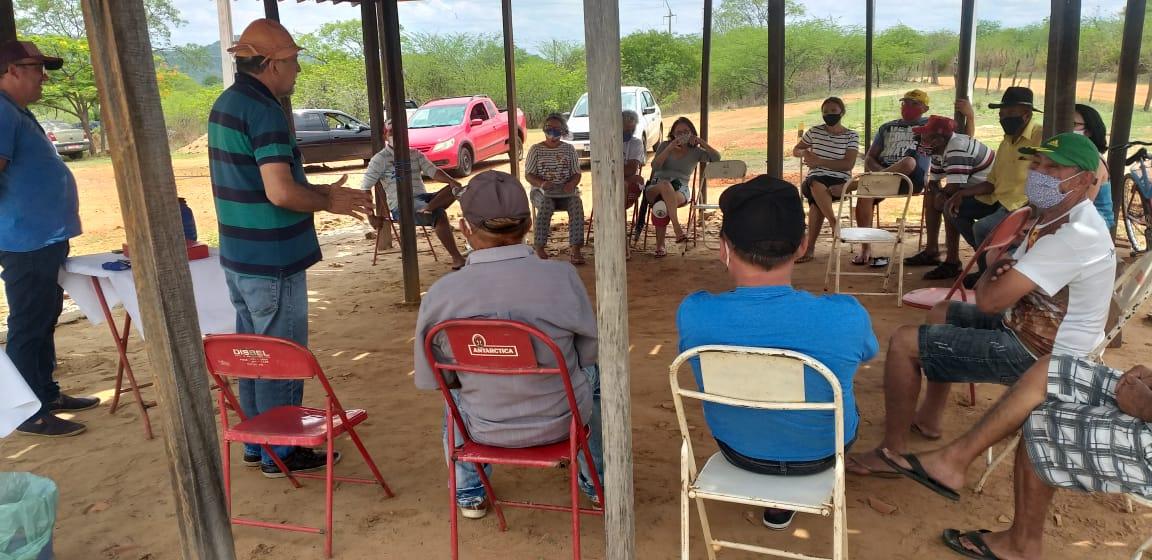 Vereador Zé Gonçalves participa de reunião na Associação Comunitária do sítio Pedra Branca