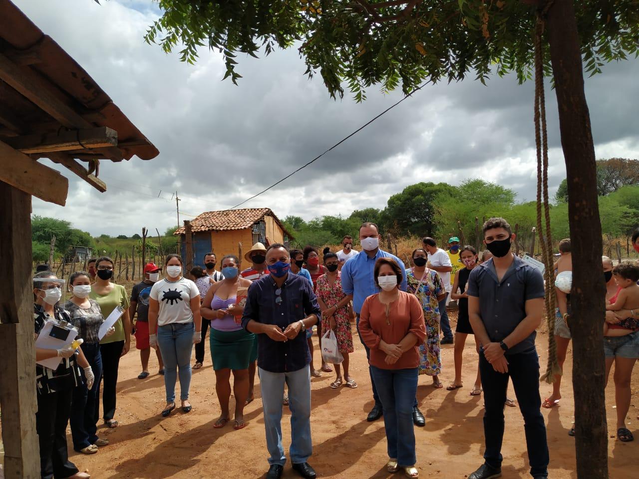 Vereador Zé Gonçalves (PT), acompanha trabalho de secretarias nos sem tetos em Patos