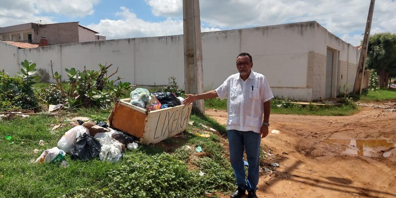 Vereador Zé Gonçalves denuncia calamidade no Bairro Nova Brasília em Patos