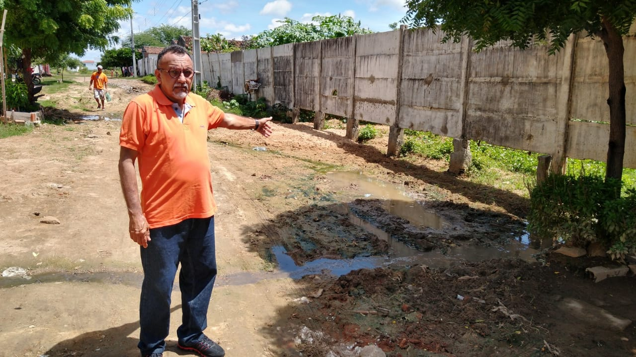 Vereador Zé Gonçalves denuncia abandono no Bairro da Liberdade em Patos