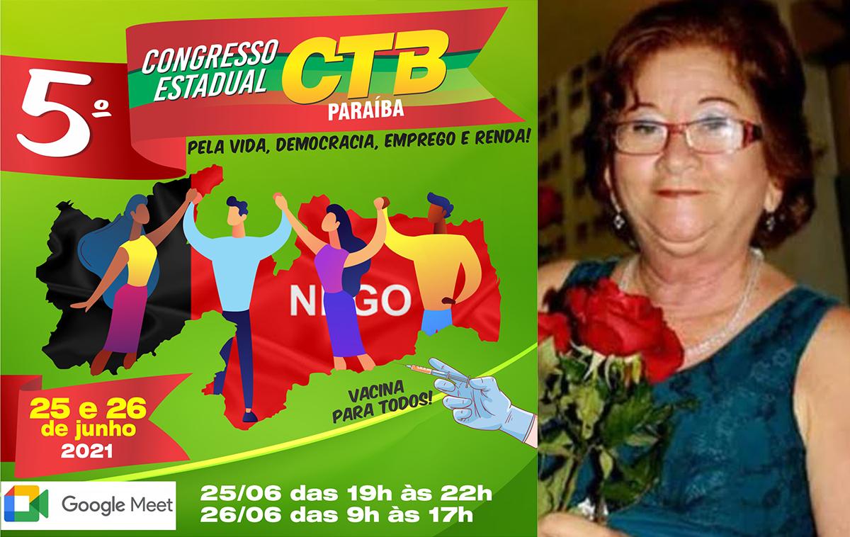 CTB Paraíba homenageará Lúcia Rocha em seu 5° Congresso Estadual