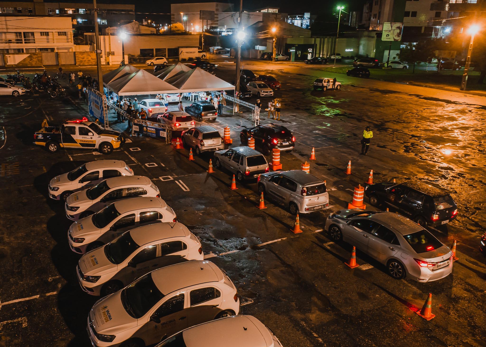 Zé Gonçalves vê com alegria o aumento do número de vacinados em Patos no Drive Thru realizado pela gestão municipal