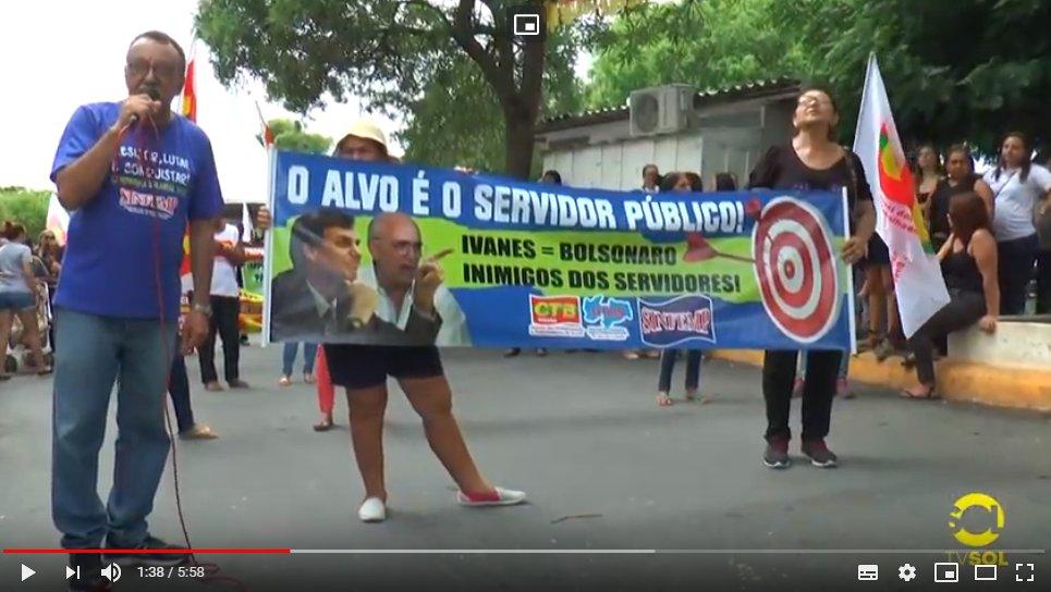 TV Sol destaca paralisação dos servidores de Patos.