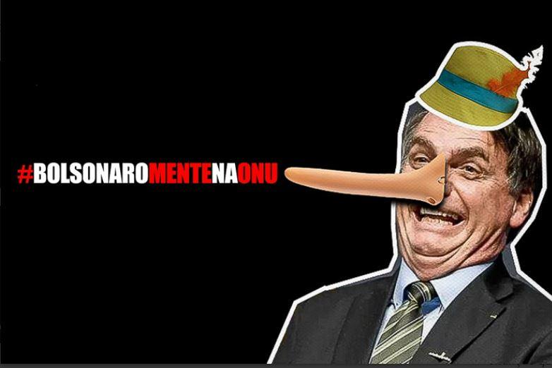 Mentiras de Bolsonaro na ONU destroem imagem do Brasil no mundo