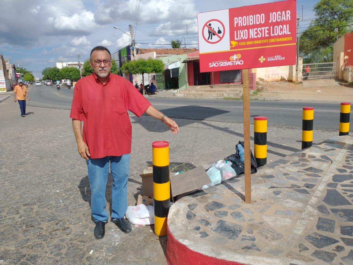 Vereador Zé Gonçalves afirma que precisa acabar com os pontos de lixo dentro da cidade de Patos