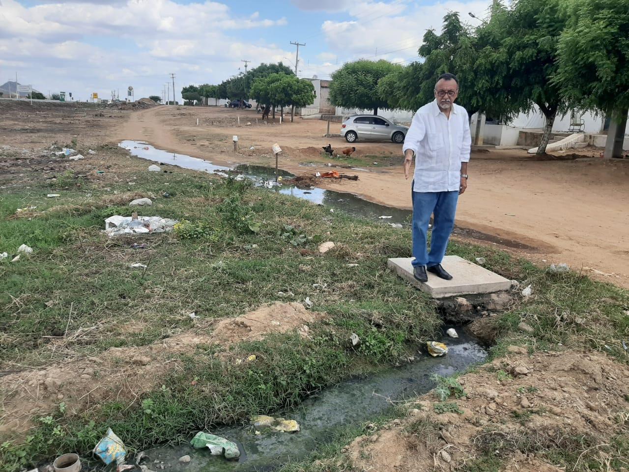 Vereador Zé Gonçalves denuncia galeria estourada no Distrito de Santa Gertrudes
