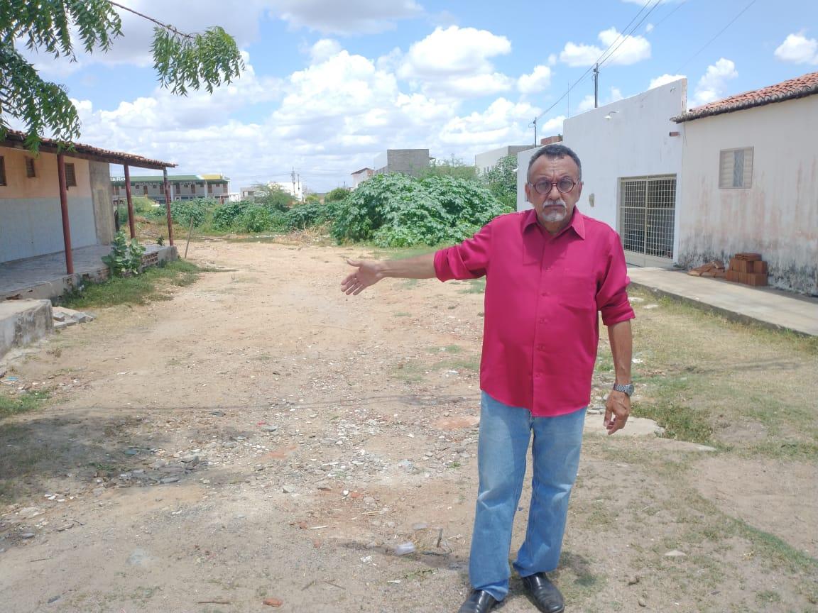 Vereador Zé Gonçalves (PT), defende abertura da Rua Juvino Lustosa no Jatobá
