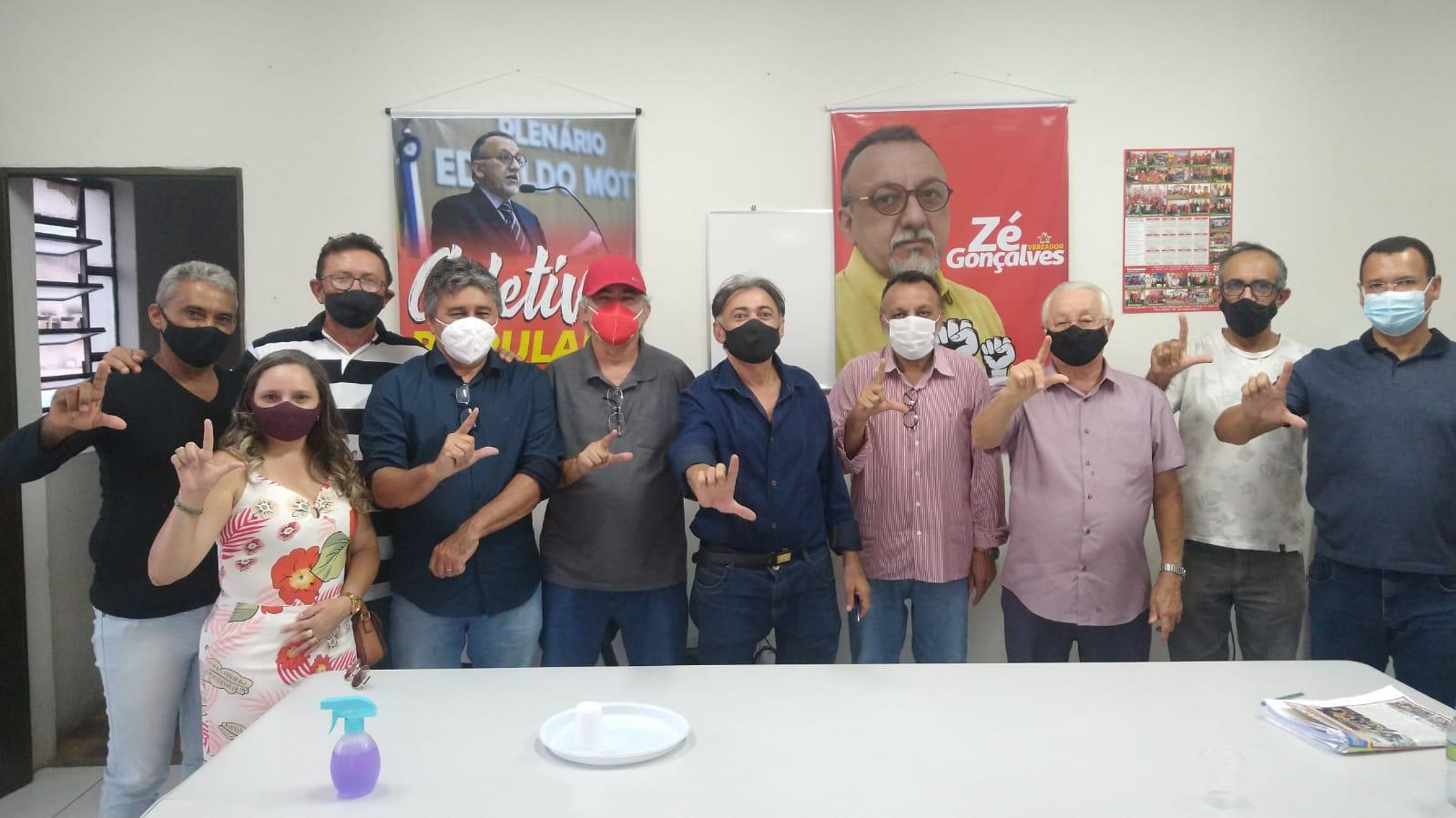 Vereador Zé Gonçalves recebe visita do Deputado Federal Frei Anastácio do PT