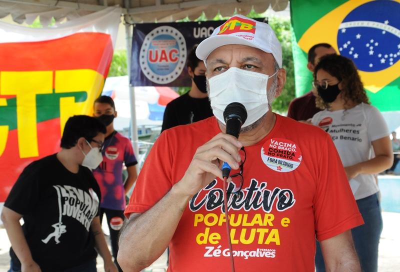 Ao lado dos movimentos sociais e lideranças políticas, Zé Gonçalves participa do Fora Bolsonaro em Patos